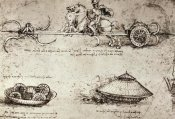 Leonardo Da Vinci - Military Inventions Sketches
