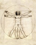 Leonardo Da Vinci - Proportions of the Human Figure (Vitruvian Man)