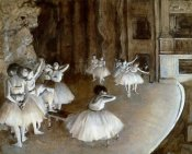 Edgar Degas - Ballet Rehearsal on the Set, 1874