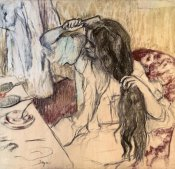 Edgar Degas - Woman at her Toilette