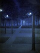 William Degouve de Nuncques - Night In The Park Royal, Brussels