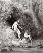 Gustave Dore - Adam & Eve In Paradise (from Milton's Paradise Lost)