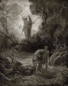 Gustave Dore - Adam & Eve - The Expulsion From The Garden (from Milton's Paradise Lost)