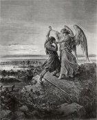 Gustave Doré - Jacob Wrestling with the Angel