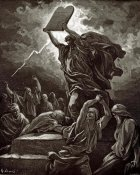 Gustave Dore - Moses Breaking The Tablets Of The Law
