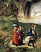 Albrecht Durer - Lot and His Family Fleeing From Sodom