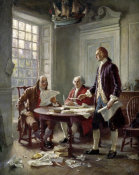 Jean Leon Gerome Ferris - Drafting the Declaration of Independence
