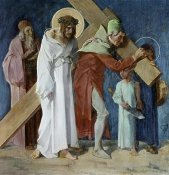 Martin Feuerstein - Simon of Cyrene Helps Jesus, 5th Station of The Cross