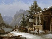 Jakob Gauermann - Winter In The Bavarian Alps