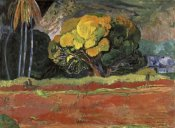 Paul Gauguin - At the Foot of a Mountain (Fatata Te Moua)