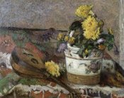 Paul Gauguin - Mandolin and Vase of Flowers