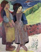 Paul Gauguin - Two Breton Girls By The Sea
