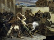 Theodore Gericault - Run of The Wild Horses In Rome