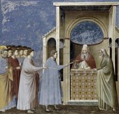 Giotto - Virgin's Suitors Presenting Their Rods