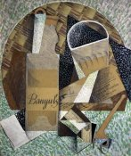 Juan Gris - Bottle of Banyuls