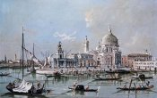Giacomo Guardi - View of The Church of Santa Maria Della Salute