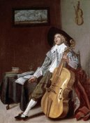 Dirck Hals - Cello Player