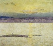 Childe Hassam - Sunset Ironbound Island: Mount Desert, Maine