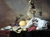 Jan Davidsz de Heem - Lobster, Oyster & Lemon