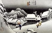 Hiroshige - Kambara, Night Snow