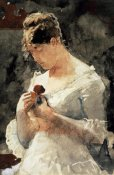 Winslow Homer - Woman with a Rose