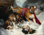 Sir Edwin Landseer - Alpine Mastiffs Reanimating a Distressed Traveller