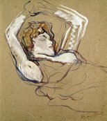 Henri Toulouse-Lautrec - Woman Sleeping on the Back