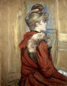 Henri Toulouse-Lautrec - Young Woman with her Fur, Mademoiselle Jeanne Fontaine