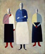 Kazimir Malevich - Three Girls