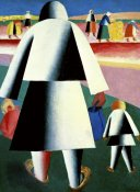 Kazimir Malevich - To The Harvest, Marfa and Wanka