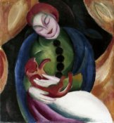 Franz Marc - Girl With a Cat