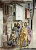 Masaccio - Saint Peter Following Saint John As He Heals The Sick With His Shadow