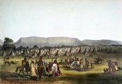 Thomas Lorraine McKenney - Encampment of Piekann Indians Near Fort Mckenzie