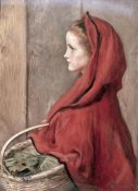 John Everett Millais - Red Riding Hood (The Artist's Daughter Effie)