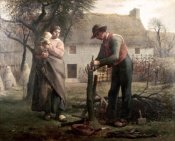 Jean-Francois Millet - Peasant Grafting a Tree