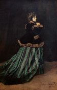Claude Monet - Camille, the Woman in Green