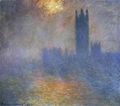 Claude Monet - London Parliament (Patch of Sun in the Fog)