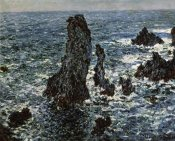 Claude Monet - Rocks at Belle Isle