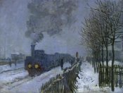 Claude Monet - Train in the Snow, 1875