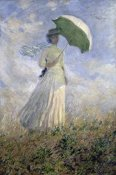 Claude Monet - Woman with a Parasol Turned to the Right