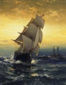 Edward Moran - Passing Ambrose Lightship