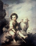 Bartolome Esteban Murillo - Christ Child As Shepherd