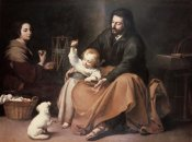 Bartolome Esteban Murillo - Holy Family With a Bird