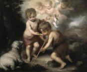 Bartolome Esteban Murillo - Jesus & John The Baptist: Children W/ Shell
