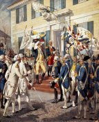 Henry Alexander Ogden - Washington Visiting Rochambeau at French Embassy