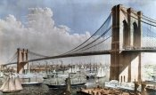 Charles Parsons - Great East River Suspension Bridge NYC, Brooklyn, 1883