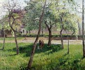 Camille Pissarro - An Enclosure in Eragny