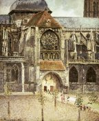 Camille Pissarro - Portal of the Saint Jacques Church in Dieppe