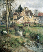 Camille Pissarro - Stream at Osny