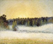 Camille Pissarro - Sunset and Fog at Eragny